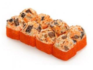 Запеченный сырный с грибами шитаке