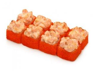 Запеченный сырный с лососем